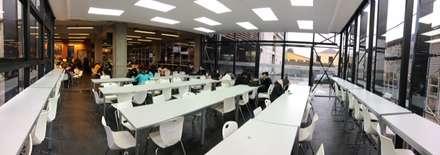 AMPLIACION CASINO DUOC VALPARAISO: Escuelas de estilo  por [ER+] Arquitectura y Construcción