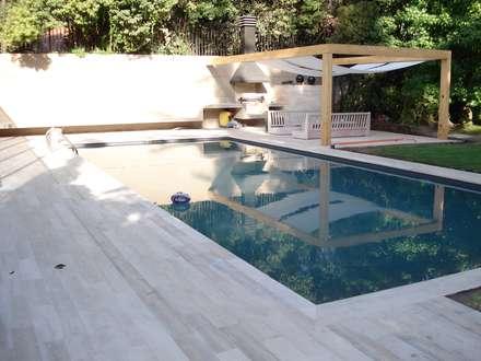 piscina casa varela piscinas de jardn de estilo por er arquitectura y construccin - Piscinas Jardin