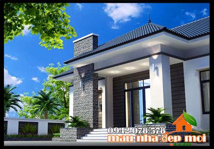 Kiến trúc độc đáo, mới mẻ:  Biệt thự by Công ty TNHH TKXD Nhà Đẹp Mới