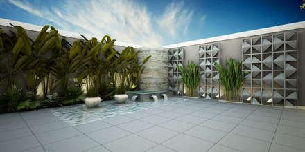 บ่อน้ำในสวน by Treez Arquitetura+Engenharia