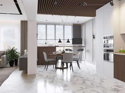 Кухня в современном стиле: Встроенные кухни в . Автор – Design interior OLGA MUDRYAKOVA