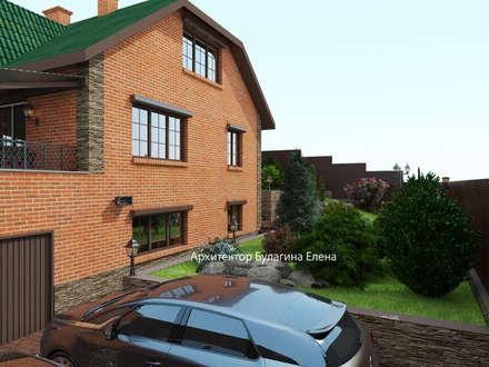 Casas de campo de estilo  por Архитектурное Бюро 'Капитель'