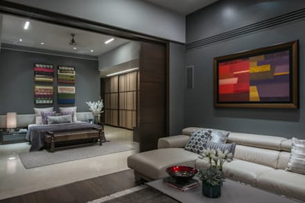 Apartment in Juhu: eclectic Media room by Rakeshh Jeswaani Interior Architects