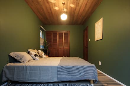 house-09(renovation): dwarfが手掛けた寝室です。