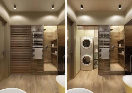 minimalistic Bathroom by Студия Семена Вишнякова '1618 ROOM'