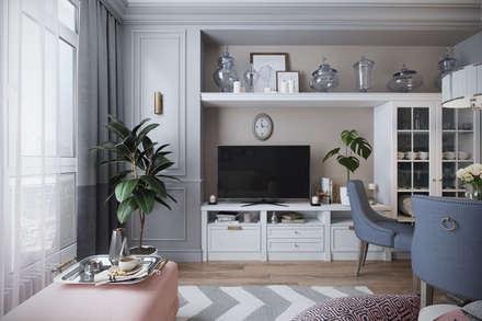classic Living room by Студия Семена Вишнякова '1618 ROOM'