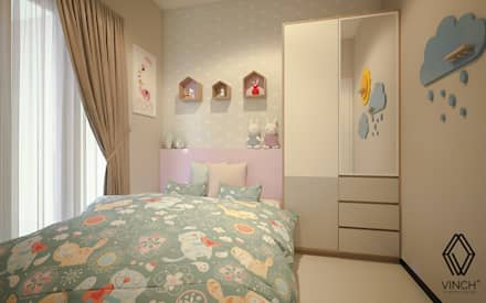 Girls Bedroom by Vinch Interior