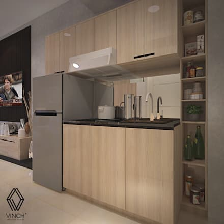 Pantry Area:  Dapur built in by Vinch Interior