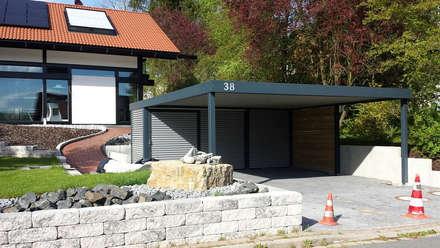 Stahlcarport mit Geräteraum:  Carport von Carport-Schmiede GmbH + Co. KG