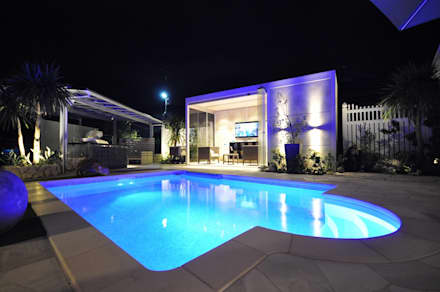 茨城県 個人邸  (4.0m×3.0m レクタングル形状): プールカンパニー 株式会社プロスパーデザイン プール事業部が手掛けたビーチハウス・クルーザーです。