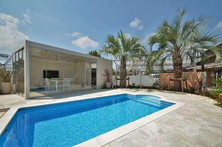 埼玉県 個人邸  (5.0m×3.0m レクタングル形状): プールカンパニー 株式会社プロスパーデザイン プール事業部が手掛けたビーチハウス・クルーザーです。