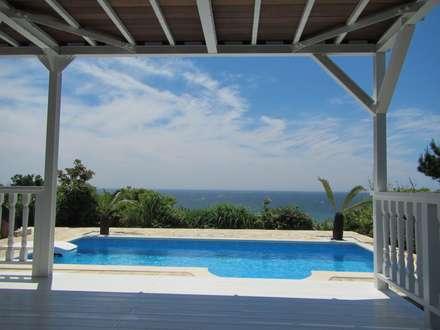 神奈川県 個人邸  (6.0m×3.0m レクタングル形状): プールカンパニー 株式会社プロスパーデザイン プール事業部が手掛けたビーチハウス・クルーザーです。