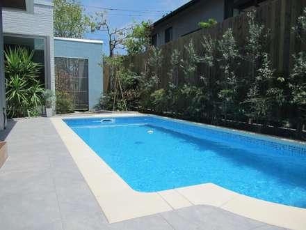 千葉県 個人邸  (5.5m×2.5m レクタングル形状): プールカンパニー 株式会社プロスパーデザイン プール事業部が手掛けたビーチハウス・クルーザーです。