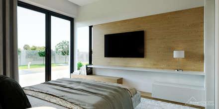 modern Bedroom by HomeKONCEPT | Projekty Domów Nowoczesnych