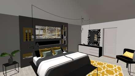 Agencement et décoration d'une ferme: Chambre de style de style Moderne par relion conception