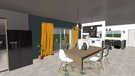 Agencement et décoration d'une ferme: Salle à manger de style de style Moderne par relion conception