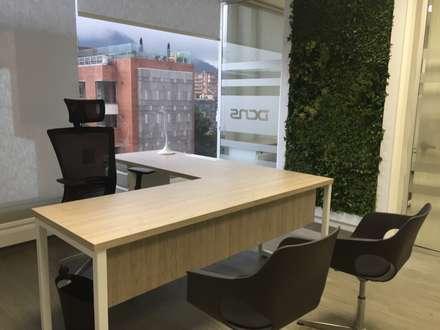 Ofiicna Gerencia: Edificios de oficinas de estilo  por Obras Son Amores