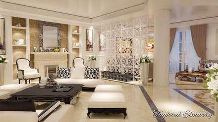 غرفة استقبال:  غرفة المعيشة تنفيذ Taghred elmasry