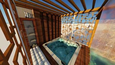 rustic Spa by MB Mateus Barreto - Arquitetura e Urbanismo