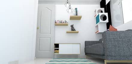habitacion funcional : Habitaciones de estilo escandinavo por Naromi  Design