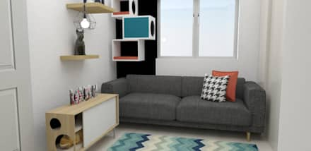 habitación gatos : Habitaciones de estilo escandinavo por Naromi  Design