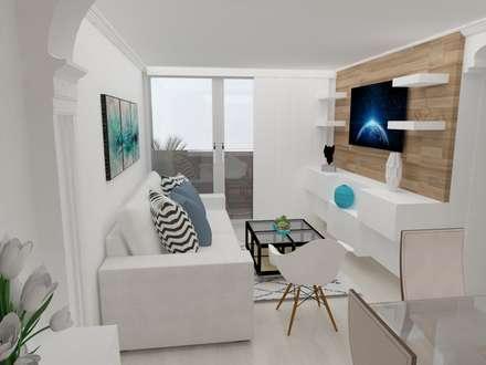 scandinavian Media room by Naromi  Design