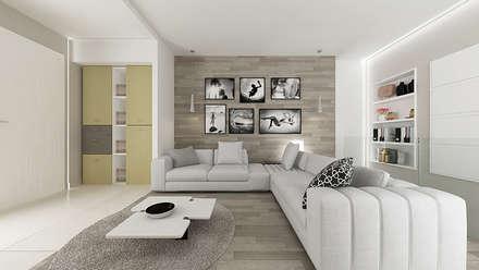 Casa GL: Soggiorno in stile in stile Industriale di De Vivo Home Design