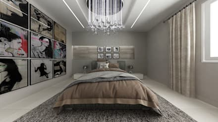 industrial Bedroom by De Vivo Home Design
