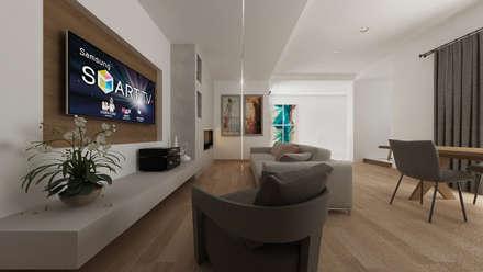 CASA AD: Soggiorno in stile in stile Mediterraneo di De Vivo Home Design