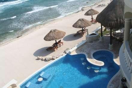 مسبح لانهائي تنفيذ DHI Arquitectos y Constructores de la Riviera Maya