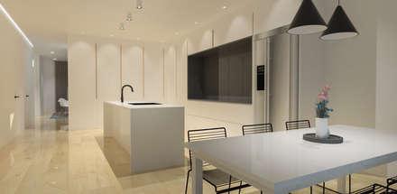 Pluit Residence:  Ruang Makan by KERA Design Studio