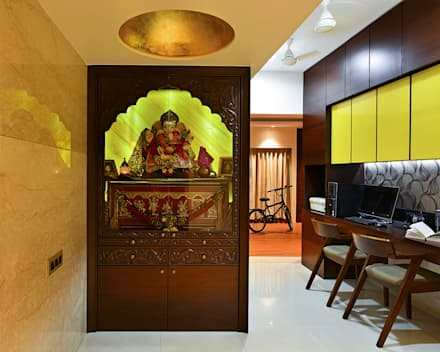 Khar residence modern study office by sm studio