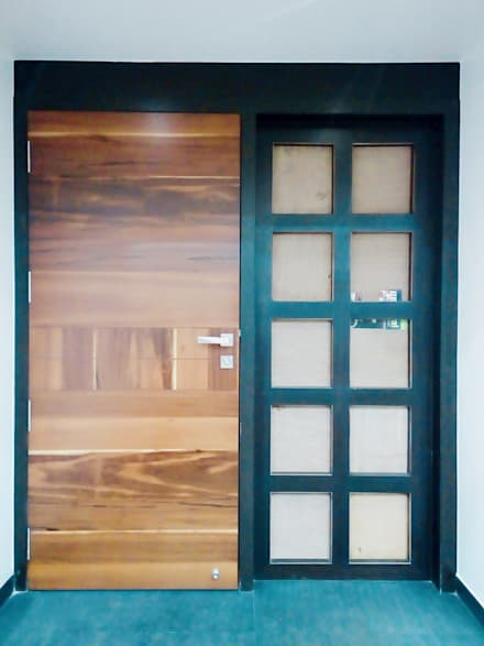 Wooden doors by Finch Architects