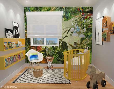 Baby Room in Den Haag: moderne Kinderkamer door Studio Baoba