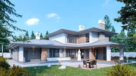 Загородный дои: Дома с террасами в . Автор – исмарус | проект