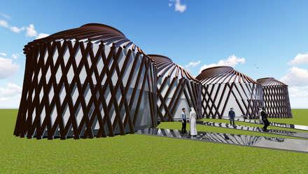 Centros de exhibiciones de estilo  por Sarissa Proje Tasarım
