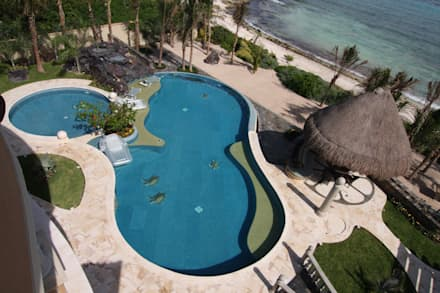 مسبح لانهائي تنفيذ DHI Riviera Maya Architects & Contractors