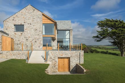 Contemporary Replacement Dwelling, Cubert:  Detached home by Laurence Associates