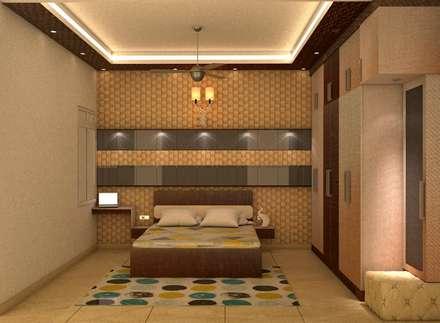 Mr.Vishal, Mantri Webcity: modern Bedroom by DECOR DREAMS