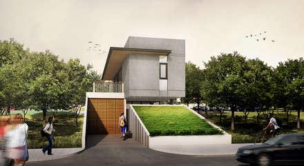 PONDOK GEDE HOUSE - BEKASI, JAWA BARAT:  Rumah by IMG ARCHITECTS