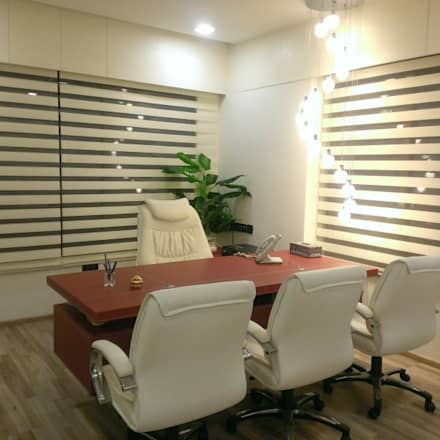 Corporate House For Sankalp Group: asian Study/office by Sanchi Shah