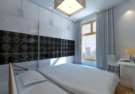 Mr.Deepak - SNN RAJ SERENITY: tropical Bedroom by DECOR DREAMS