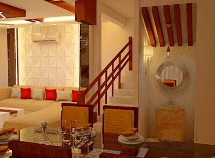 JR Greenwich Villas, Sarjapur Road - Ms. Natasha: eclectic Dining room by DECOR DREAMS