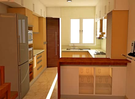 JR Greenwich Villas, Sarjapur Road - Ms. Natasha:  Built-in kitchens by DECOR DREAMS