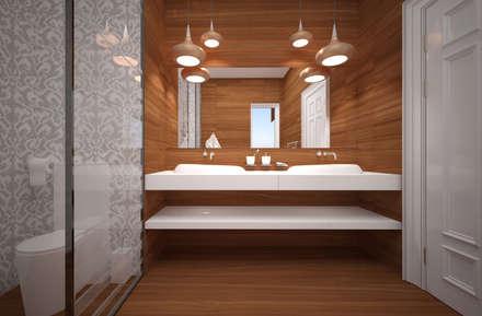 Стилистические эксперименты: Ванные комнаты в . Автор – U-Style design studio