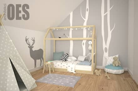 scandinavian Nursery/kid's room by OES architekci