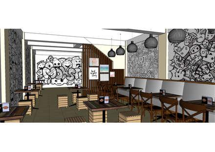 Area lantai 2:  Ruang Makan by Asanka Interior
