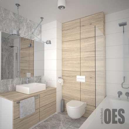 Skandynawska łazienka: styl , w kategorii Łazienka zaprojektowany przez OES architekci