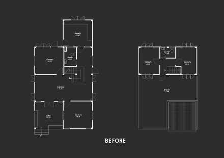 ปรับปรุง บ้านคุณวิว:  บ้านและที่อยู่อาศัย by Identity Design & Architecture Part.,Ltd