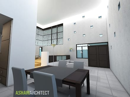 Palembang House:  Ruang Makan by Ashari Architect